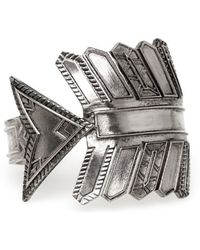 House Of Harlow 1960 Antiqued Accented Arrow Cuff silver - Lyst