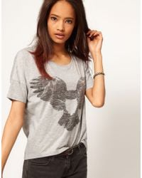 ASOS Collection Drape Top with Flying Owl - Lyst