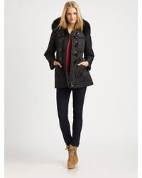 Burberry Brit Hooded Toggle Jacket - Lyst