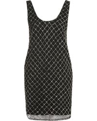Topshop Coin Scoop Back Dress By Dress Up Topshop In Gold