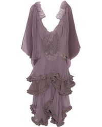 Julien Macdonald Sweet Heather Silkchiffon Dress - Lyst