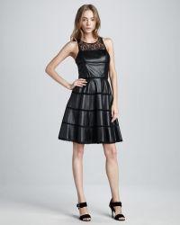 Sachin & Babi Ella Leather Lace Dress - Lyst