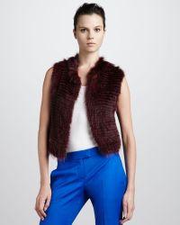 Theory Raccoon Vest Crimson - Lyst