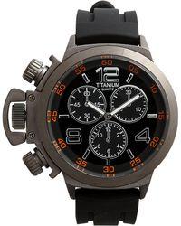 Titanium Oversized Chronograph Watch - Lyst