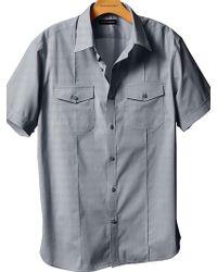 Banana Republic Shortsleeved Pintucked Utility Shirt - Lyst