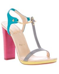 Christian Louboutin Colour Block Sandal - Lyst