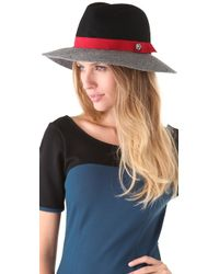 Juicy Couture - Color Blocked Floppy Fedora - Lyst