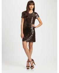 MICHAEL Michael Kors Sequin Shift Dress - Lyst