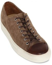 Buttero Suede and Leather Low Sneakers - Lyst