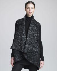 Donna Karan New York Urban Tweed Vest - Lyst