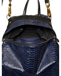 Jas MB - Mini Bomber Snake Print Leather Backpack - Lyst