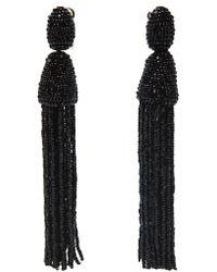 Oscar de la Renta Bead Tassel Earring - Lyst