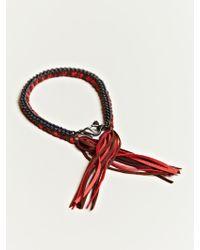 Alyssa Norton -  Unisex Braided Silk and Suede Bracelet - Lyst