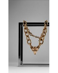 Burberry Fox Detail Necklace - Lyst