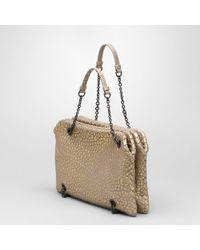 Bottega Veneta Gainsboro Oro Soft Lambskin Duo Bag - Lyst
