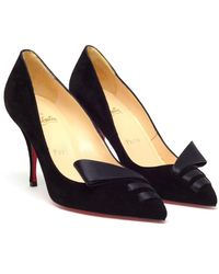 Christian Louboutin Audrey Suede and Satin Pumps - Lyst