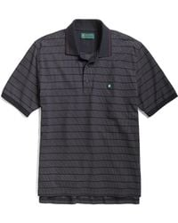 Brooks Brothers St Andrews Links Dotted Feed Striped Polo - Lyst