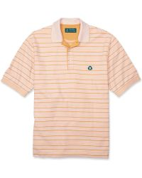 Brooks Brothers St Andrews Links Striped Oxford Pique Polo - Lyst