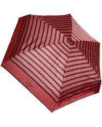 Jean Paul Gaultier Striped Folding Umbrella Red/Black red - Lyst