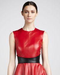 Monique Lhuillier - Leather Belt - Lyst