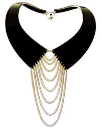 Zelia Horsley Jewellery Collared Necklace Gold - Lyst