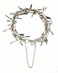 Zelia Horsley Jewellery Spiked Unisex Bracelet - Lyst