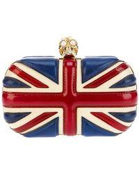 Alexander McQueen 'Britannia Skull' Box Clutch multicolor - Lyst