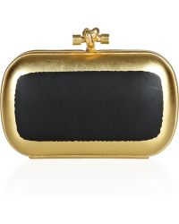 Bottega Veneta Hand Painted Waxed Leather Knot Clutch - Lyst