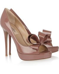 Valentino Patentleather Bow Pumps - Lyst