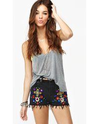 Nasty Gal Jeweled Cutoff Shorts - Lyst