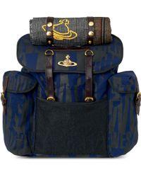 Vivienne Westwood Westwood Print Canvas Backpack blue - Lyst
