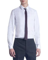Burberry Prorsum - Striped Skinny Square Tie - Lyst
