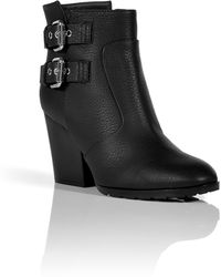 Giuseppe Zanotti Black Buckled Ankle Boots - Lyst