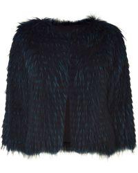 Schumacher Blue Shadow Raccoon Fur Jacket - Lyst
