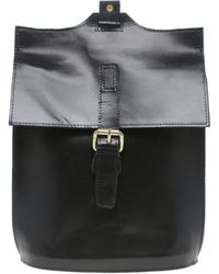 Asos Leather Single Strap Backpack - Lyst