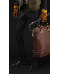 Burberry Prorsum Skinny Fit Wool Canvas Trousers - Lyst