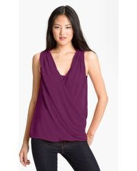 DKNY Faux Wrap Blouse with Camisole - Lyst