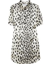 Sonia by Sonia Rykiel Dalmatian Print Satin Dress - Lyst