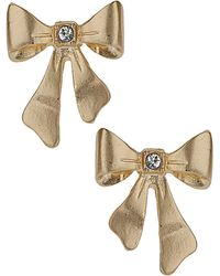 Topshop Bow Studs - Lyst