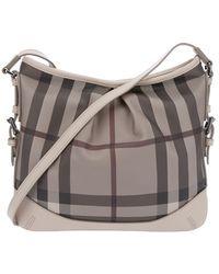 Burberry Brit - Checked Shoulder Bag - Lyst