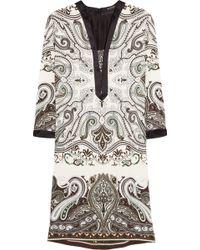 Etro Cotton Floralprint Shirtdress gray - Lyst