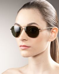 Oliver Peoples Benedict Aviator Sunglasses - Lyst