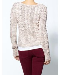 Free People Cable Town Pullover - Lyst