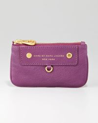 Marc By Marc Jacobs Preppy Leather Key Pouch purple - Lyst