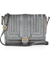 Burberry Prorsum - Moyles Ostrich and Suede Shoulder Bag - Lyst