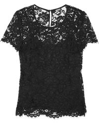 DKNY Florallace Top - Lyst