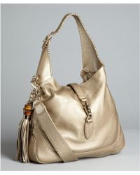 Gucci  Leather New Jackie Tassel Hobo - Lyst