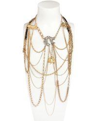 Maria Zureta | Gold Black Panthers Necklace | Lyst