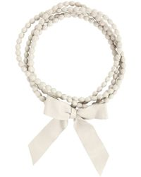 Natalia Brilli - Long Beads Bow Necklace - Lyst