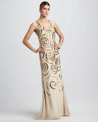 Aidan Mattox Sleeveless Beaded Gown - Lyst